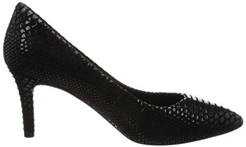Rockport Total Motion 75mm Pointy Toe Pump, Escarpins femme Noir - Schwarz (Black Boa Snake)