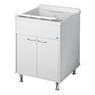 Negrari 9042A Waschbecken aus Kunstharz, für Außen, Weiß