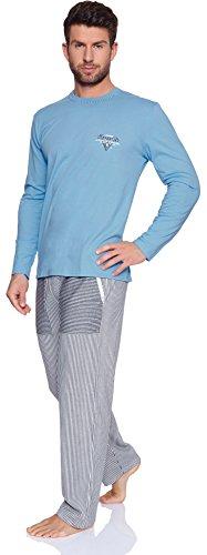 Italian Fashion IF Herren Schlafanzug Tobias 0223 Blau