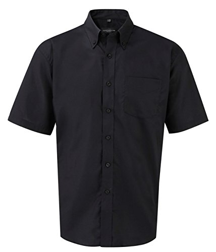 Russell Collection Herren kurzärmeliges Easy Care Oxford-Hemd (Oxford Down Uniform Button)