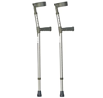 Drive Pair of Lightweight Double Adjustable Forearm Crutches (Choose Size)