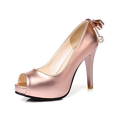 Zormey Frauen Heels Fr¨¹hling Sommer Herbst Winter Club Schuhe Pu Hochzeit Party & Amp Abendkleid Stiletto Heel Strass Bowknotsliver Rosa US9.5-10 / EU41 / UK7.5-8 / CN42