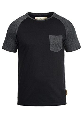 INDICODE Gresham T-Shirt, Größe:L;Farbe:Black - Charcoal (9992) -