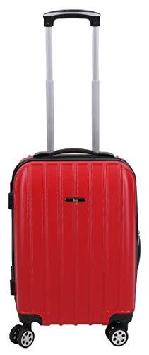 BETZ Valise Rigide à Fermeture TSA Trolley Bagage à Cabine poignée télescopique et roulettes pivotantes (Rouge)