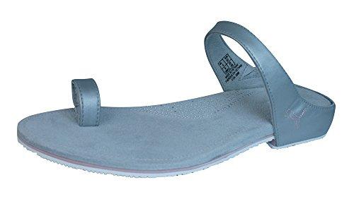 Puma Neveah Damen Leder Sandalen / Flip Flops-Silver-39