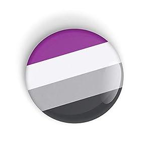 Asexueller Stolz Asexual Pride Flag Anstecknadel oder Kühlschrankmagnet LGBT LGBTQ LGBTQI LGBTQIA