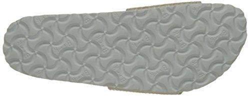 BIRKENSTOCK Damen Madrid Birko-Flor Pantoletten Beige (Shiny Snake Cream)
