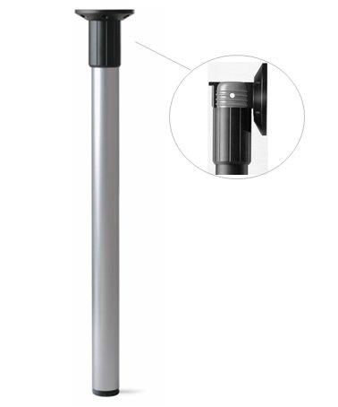 Tischbeine klappbar Chrom Höhe 710 mm Ø 50