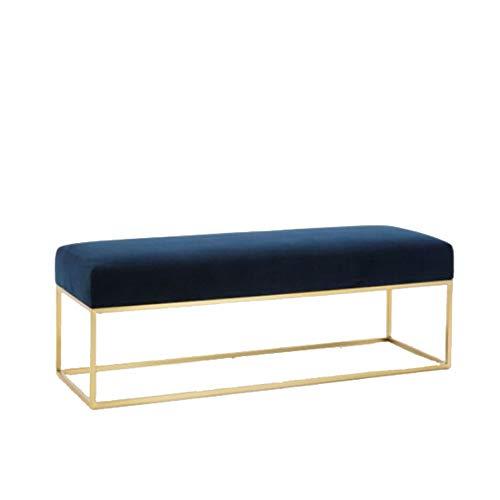 Schwarz Metall-futon-rahmen (HongTeng Startseite Ändern Sie Schuhe Hocker Bekleidungsgeschäft Sofa Stuhl Kreative Umkleidekabine Bank in die Tür zu tragen Schuhe Bank Bett Fuß Hocker 120x35x45cm)