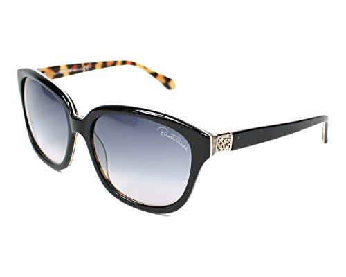 Roberto Cavalli Damen Sonnenbrille Schwarz schwarz