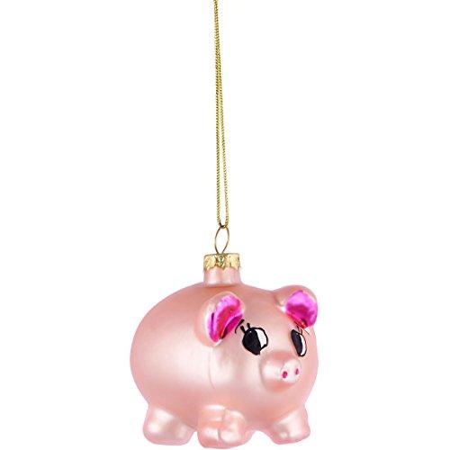 BUTLERS HANG ON Anhänger Glücksschweinchen - Stylische Weihnachtsdeko - Weihnachtsschmuck Baumschmuck -...