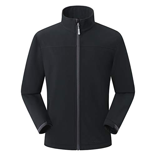 Amazon Marke: Eono Essentials Herren-Softshell-Jacke, Übergangsjacke - Medium, Schwarz Herren Shell Jacken