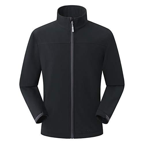Amazon Marke: Eono Essentials Herren-Softshell-Jacke, Übergangsjacke - X-Large, Schwarz