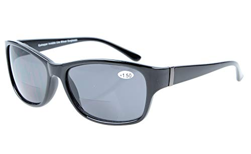 Eyekepper Bi-Focal Sonne Leser modische Bifokale Sonnenbrillen Schwarz Rahmen/Grau Linsen+3.00