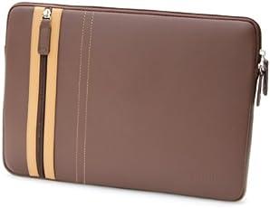 COOL BANANAS SmartGuy Sleeve   Tasche für Apple MacBook Pro 13 Zoll (13,3)   Hülle aus echtem Leder   hochwertig verarbeitet für Business und Privat   Case in Farbe Braun (MacBook Pro 13, Braun)