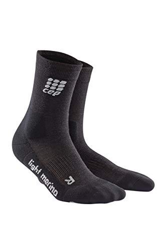 CEP - Outdoor Light Merino MID-Cut Socks für Herren | Warme Wandersocken in anthrazit | Größe IV
