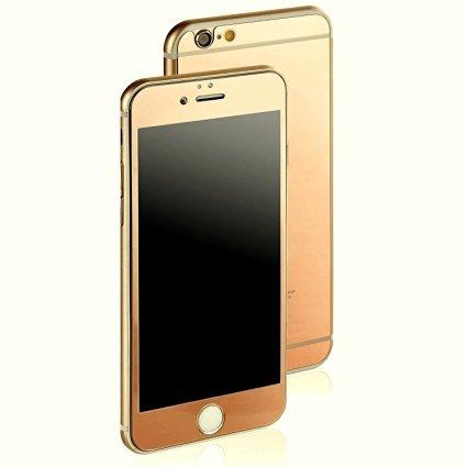 Gold IPHONE 5 / 5S Displayschutz Glas Vor und Rückseite