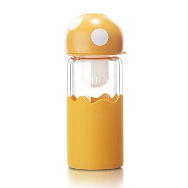 Outdoor Wear to work Casual/Daily To-Go Drinkware 380ml Silica Gel Glass Tea Water Water Bottle , orange