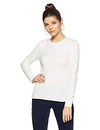 Qube By Fort Collins Women's Sweater (CH101_Off White_M)