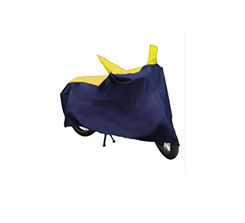 GS Heavy Duty Parachute Yellow & Blue Multicolor Waterproof Bike Body Cover for Yamah YZF R1 5s (With Side Mirror Pockets)