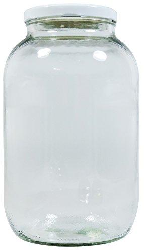 l mit weißem Schraubverschluss, Vorratsglas Glasdose inkl. Beschriftungsetikett ()