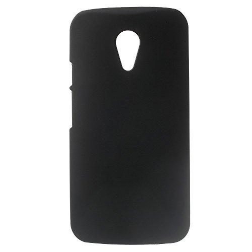 Motorola Moto G 2nd Generation 2014 Hard Case Rubberized gummiert Hülle Schwarz