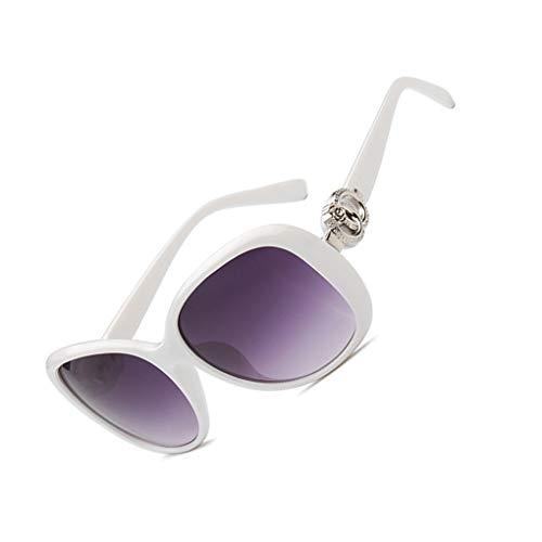 Aiming Damen mit großem Rahmen und Sonnenbrillen Mädchen Kunststoff Schatten Dunkle Gläser Weinlese Stilvolle Im Freien Brille