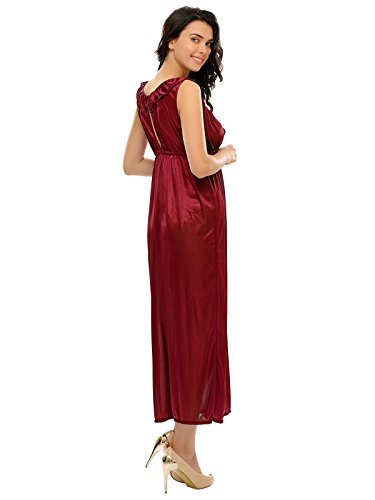 Clovia - Chemise de nuit - Femme Rouge - Bordeaux