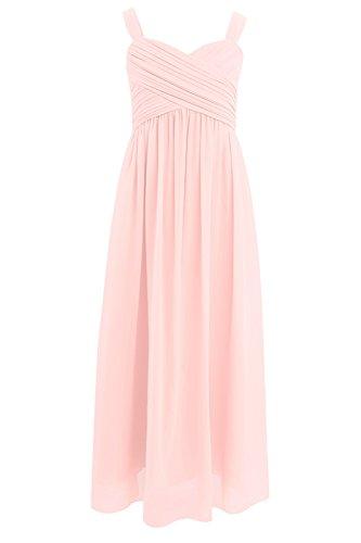 hen festlich Chiffon Hochzeit Abend Kleider Sommerkleid Freizeitkleid Party Kleid Prinzessin Kleid Festzug 104 116 128 140 152 164 Rosa 152/12 Jahre (Schönes Kleid Mädchen)