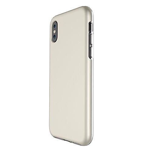 Ultra Thin Lightweight Dual Layer 2 in 1 PC und TPU Schutzhülle für iPhone X ( Color : Black ) Gold
