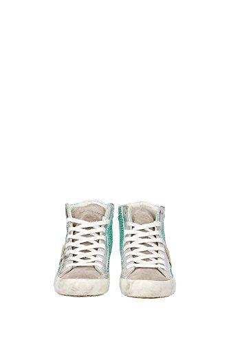 CLHDUM02 Philippe Model Sneakers Femme Cuir Vert Vert