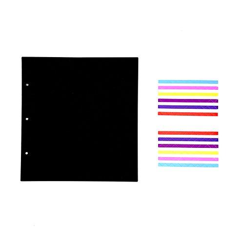 ThxMadam Scrapbooking Papel Negro 25x23.5CM, 20pcs Extra de Recarga páginas de Fotos Libro en Blanco de Papel Dentro de Bricolaje Recortes álbum de Fotos 26x26CM,para álbum Diente de león A'