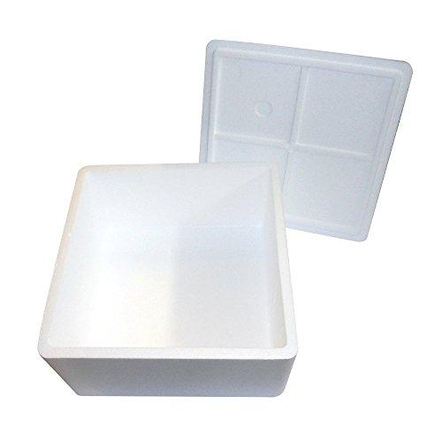 Piezas 1caja térmica blanca cuadrado alta 36cm x 36cm 20cm (Medidas exteriores) caja porta tartas y postres en poliestireno para asporto. Se caracteriza por el grosor del poliestireno, para la resistencia a los golpes y base para la estética eleg...