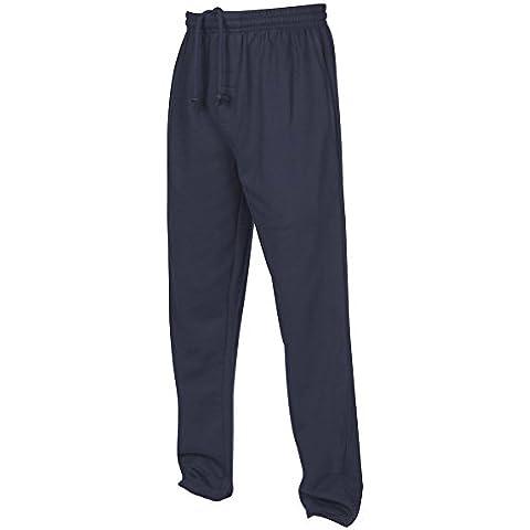 Pantaloni da Jogging, con gamba larga Big King-Pantaloni tuta, taglia unica Plus blu navy XXXXXL