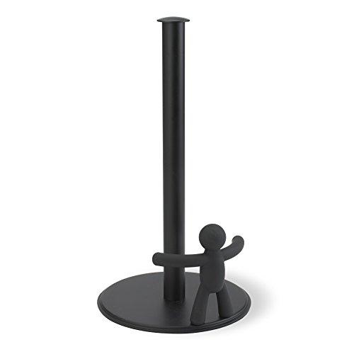 Umbra 330280-040 Buddy Küchenrollenhalter, Zewarollenhalter, Papierrollenhalter aus Metall , schwarz