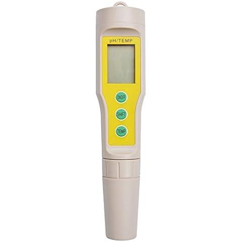 rcyago Digital LCD analizador de pH metros probador de suelo Acuario Agua Piscina Segura vino orina PH-03