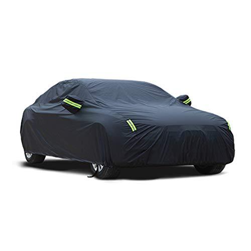 JXXDDQ Vollständige Autoabdeckung Wasserdicht Atmungsaktiv Limousine Autoabdeckung Indoor Outdoor - Mit Baumwolle gefüttert - Heavy Duty - Schwarz (Groß - Für Bentley Mulsanne) (Size : 2015)