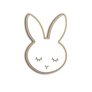 learnarmy Acrylspiegel Wandaufkleber Cute Bunny Shape Anti-Scratch Hanging Sticking Ways Wandaufkleber für Kinderzimmer.