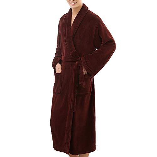 ➤Refill➤ Bademäntel für Herren - 100% Baumwolle,Bademantel aus Baumwollfrottee,8 Taschen, Saunamantel mit Schalkragen, Weich, Saugfähig und Bequem Nachtwäsche für Herren