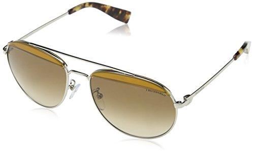 Dermactin-TS Unisex Str009V Sonnenbrille, Braun (SHINY PALLADIUM), Einheitsgröße