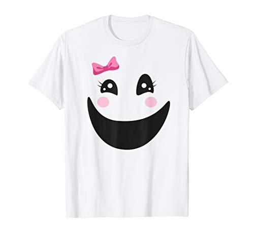 Geschnitten Geist Aus Gesicht Kostüm - Lustiges Geist Mädchen Gesicht einfaches Halloween Kostüm T-Shirt