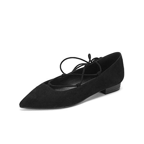 Abito moda suede shoes/ scarpa a punta asakuchi basso donna-A Lunghezza piede=22.8CM(9Inch)