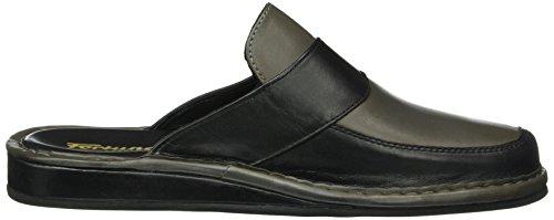 Fortuna Herren Exclusiv Flex Pantoffeln Grau (grau/schwarz 356)