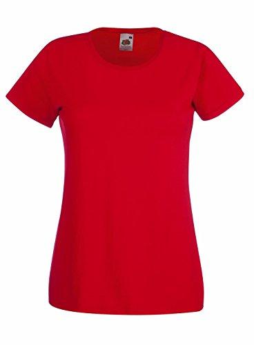 Preisvergleich Produktbild Fruit of the Loom: Lady-Fit Valueweight T 61-372-0, Größe:M (12);Farbe:Red