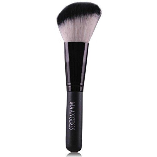 Honestyi Ensemble de pinceaux cosmétiques professionnels Fibre Fond de Teint Poudre Brosses blush (Noir)