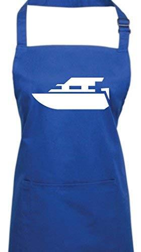 Shirtstown Kochschürze, Motorboot, Yacht, Boot, Skipper, Kapitän, royal