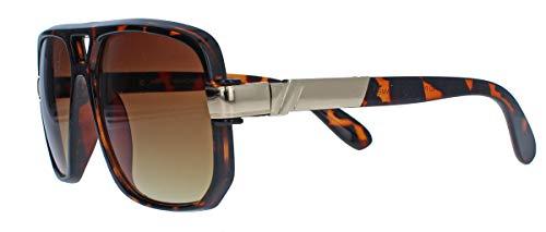 Kultige 70er 80er Jahre Brille Sonnenbrille o. Nerdbrille Retro Kassengestell Hornbrille HN14...