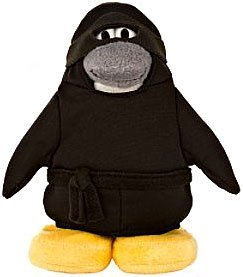 Disney Club Penguin 6.5 inch Plush Figure Ninja (Includes Coin with Code!)