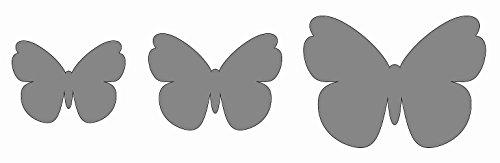 KREUL B569 - Feste Design- Schablone Schmetterling, selbstklebend, 13 x 40 cm Preisvergleich