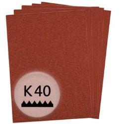 KWB 50x Schleifpapier Holz und Metall, 810-040